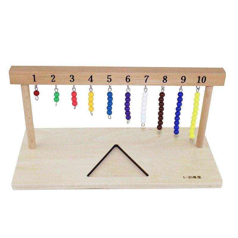 Bébé 3-6 ans Montessori Math jouet suspendus perles titulaire numéro de 1-20 avec perles de couleur aides pédagogiques scolaires - 5