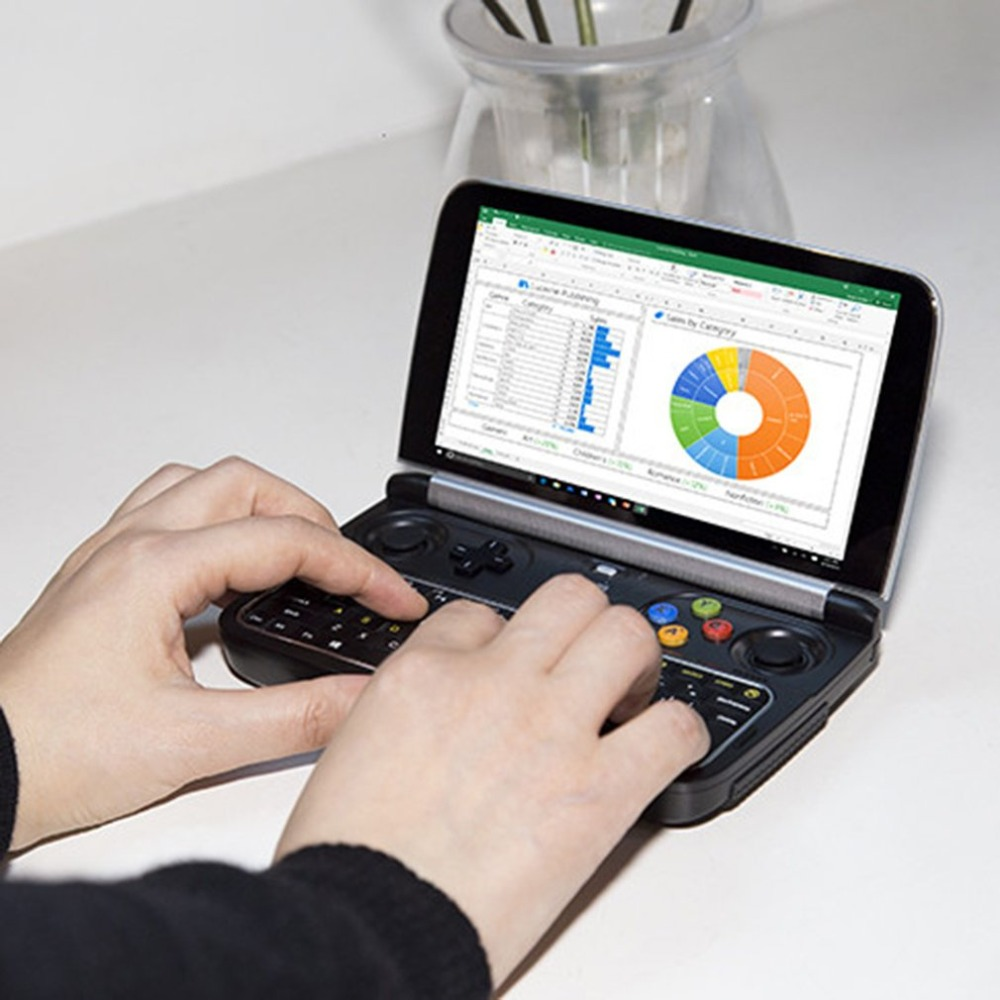 GPD WIN 2 8GB RAM+256GB ROM+128GB SSD Mini PC Laptop Notebook Win10 6 inch H-IPS Screen m3-7Y30 CPU Handheld Game Console Player