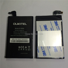 100 original battery OUKITEL k10000 battery 10000mAh Long standby time High capacit Mobile font b phone