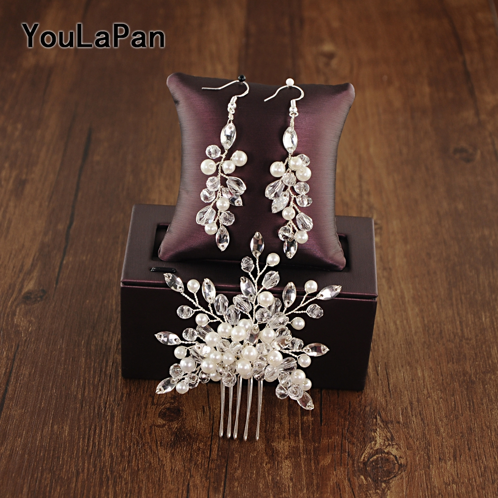 YouLaPan HP181 Bridal Tiara Bridal Wedding Hair Accessories Crystal Wedding Combs Wedding Hair Jewelry Bridal Hair Comb