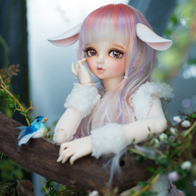 AQK BJD / SD 1 / 4 Dolls and Accessories Rin Baby Girl Free eyes bjd pukifee rin basic two face and ears aoaomeow