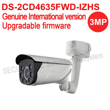 Free shipping English version DS-2CD4635FWD-IZHS 3MP Smart Vandal-proof Bullet cctv IP Camera POE, heater , IK10, 50m IR