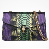 Punk Style Women Style Snake Handbags Mini Size Chain Bags Cellphone Bags Sac A Main