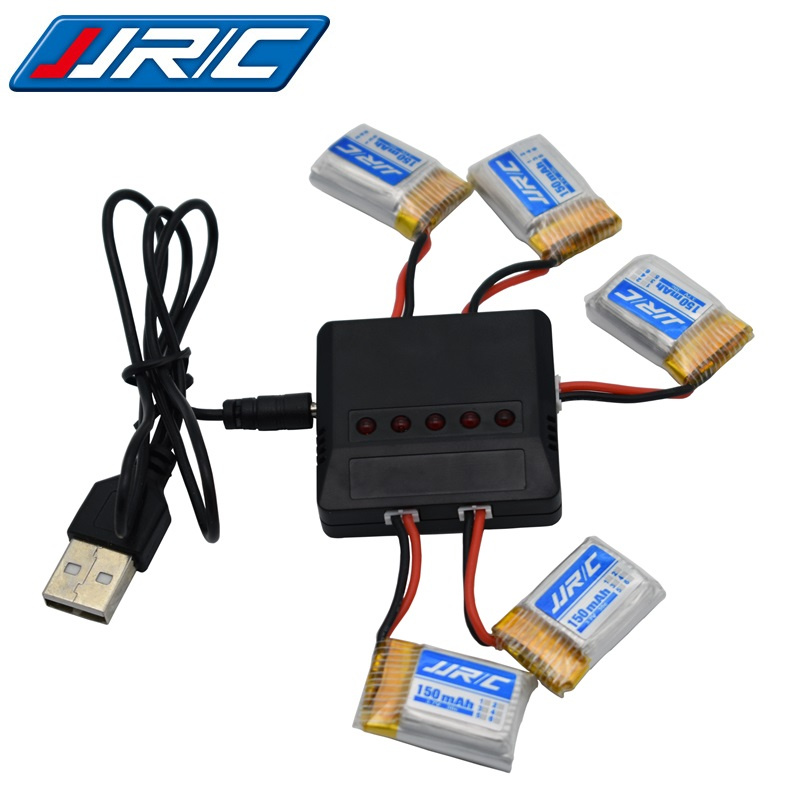 JJRC H8Mini 3.7v 150mah 30C battery For H2 H8 H48 U207 With (5 in 1) Charger RC Quadcopter Spare parts 3.7v LIPO Battery for H8 lipo battery 7 4v 2700mah 10c 5pcs batteies with cable for charger hubsan h501s h501c x4 rc quadcopter airplane drone spare