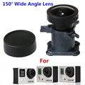 CENINE 12Mp Ir Lente Para Go Pro Acessórios 150 Graus De Vidro ultra wide angle lens para gopro hero 4 3 3 + substituição Kit