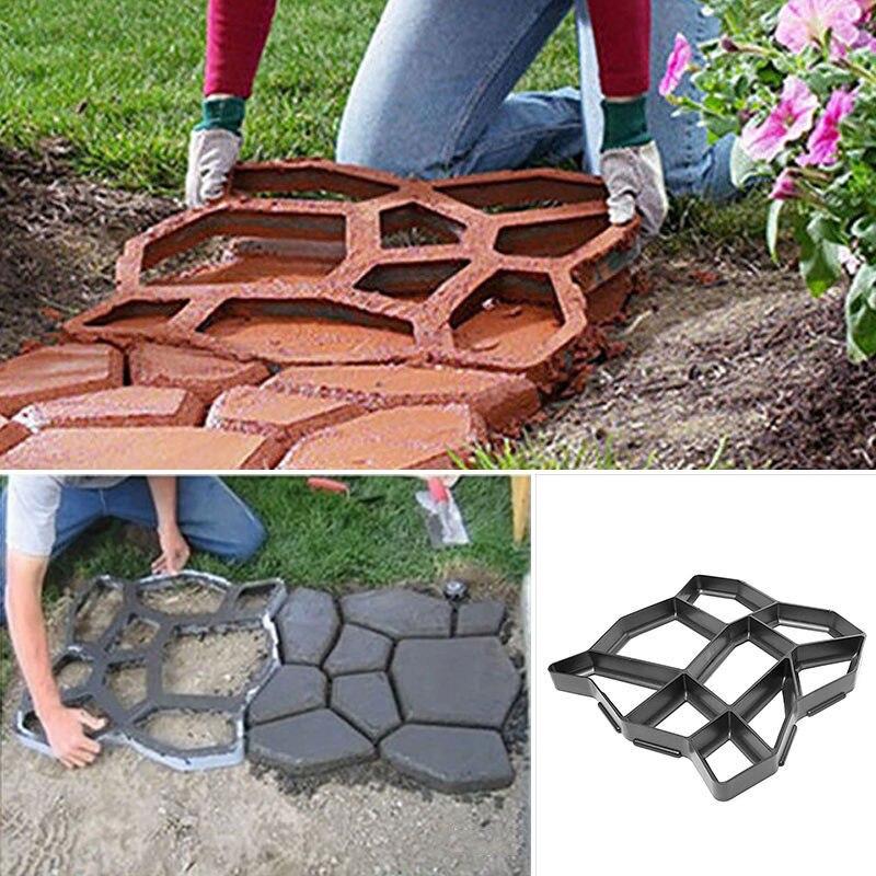 2019 חדש רצפת נתיב יצרנית עובש בטון עובש לשימוש חוזר DIY ריצוף עמיד עבור גן דשא יו-בית