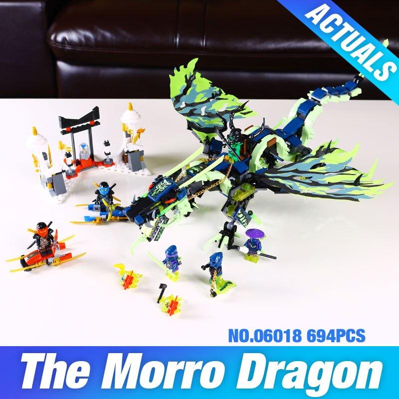 ФОТО Lepin 06018 658pcs Bela Phantom Attack of the Morro Dragon Building Blocks Set baby kit Educational Boys Gift DIY lovely toys