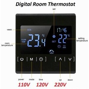 Image 1 - Контроллер температуры теплого пола с ЖК дисплеем, 85 ~ 240 В, 16 А, термостат для теплого пола
