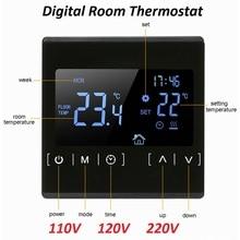 جديد اللمس شاشة عرض LCD الطابق الدافئة متحكم في درجة الحرارة 85 ~ 240 فولت 16A الكهربائية الطابق منظم حرارة غرفة لاسلكي