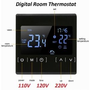 Image 1 - 新しいタッチスクリーン Lcd ディスプレイ暖かい床温度コントローラ 85 〜 240V 16A 電気床暖房ルームサーモスタット
