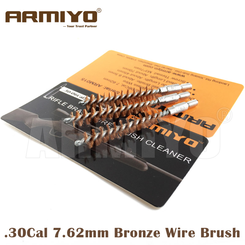 Armiyo .308 .30-06 .30 Cal 7.62mm Gun Bore Cleaning Brush Tactical Rifle Barrel Cleaner Shooting Fit AK Screw Thread Size 8-32