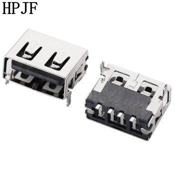 10 Uds USB 2,0 4Pin A tipo longitud 10,0mm SMT parche plano conector de enchufe hembra Pin cuerpo corto para cargador de transmisión de datos