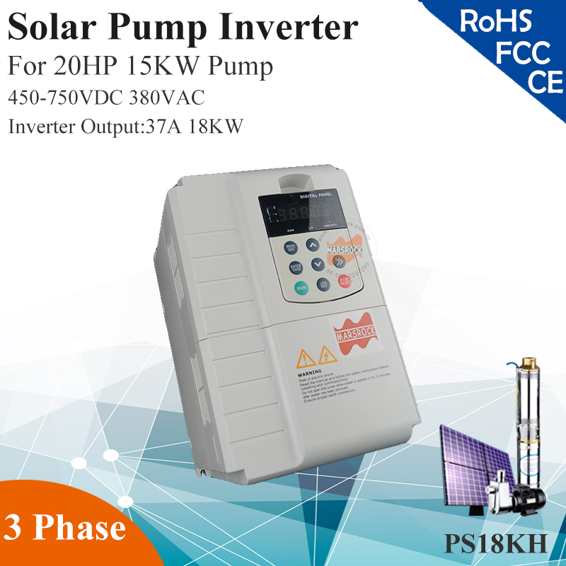 18KW 37A 3phase 380VAC MPPT solar pump inverter for 20HP 15KW water pump dhl ems 1pcs sv150is5 4nd0 ls inverter 15kw