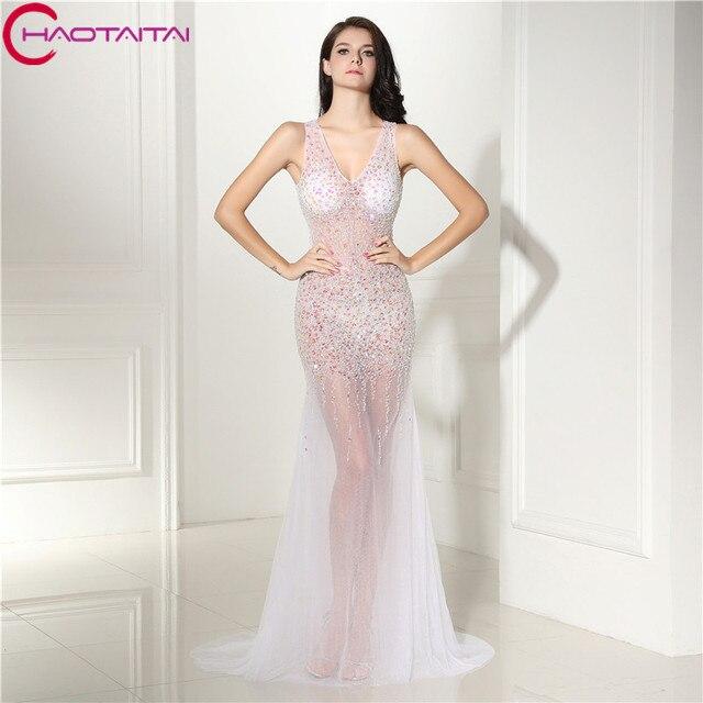 Real Photo 100% Prom Dress Luxury 2018 Sweetheart Sleeveless High ...
