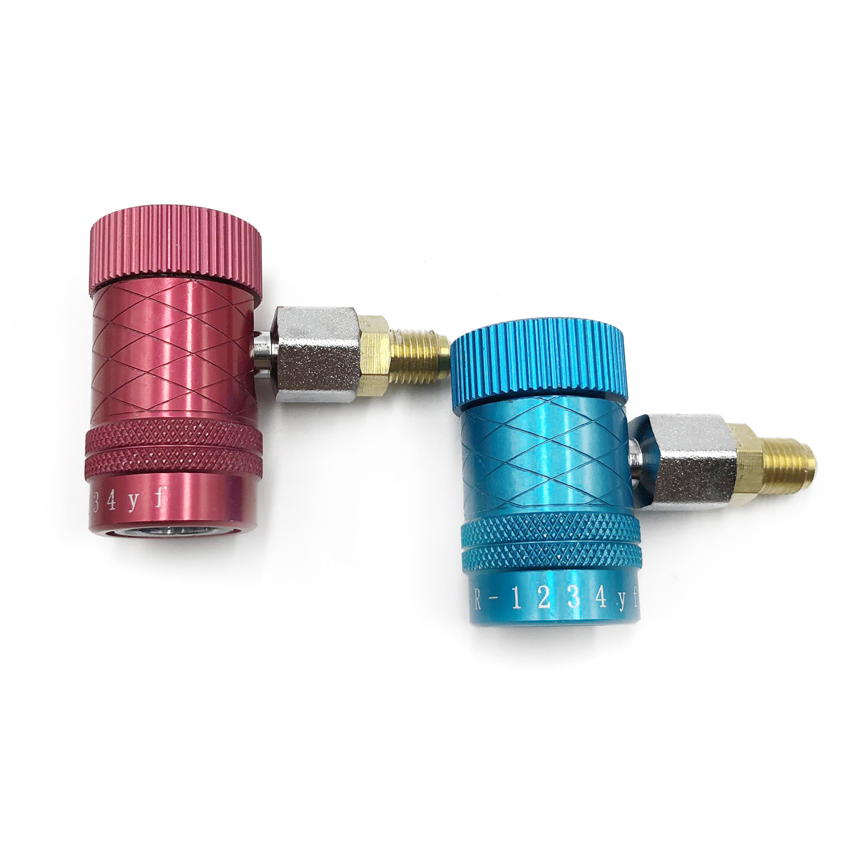 1 Pair R1234yf A/C Adjustable Quick Coupler Connector Adapter For Automobile Air Conditioning Refrigerant Tool Mayitr1 Pair R1234yf A/C Adjustable Quick Coupler Connector Adapter For Automobile Air Conditioning Refrigerant Tool Mayitr