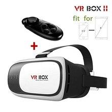 HOT Google CAJA de cartón VR VR II 2.0 Versión Virtual realidad Gafas 3D Para 3.5-6.0 pulgadas Smartphone + Bluetooth Controlador 1.0