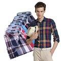 2016 colorido fashio casuais camisas xadrez homens dos homens camisa de vestido mais o tamanho m-3xl homme camisa masculina mens novo clothing mq66