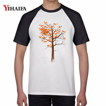 T Shirts Colorful Fox Tree 3D Print Animal Graphic Tees Men Women Creative Summer Casual Tee Tops Plus Size Cotton Unisex Top недорого