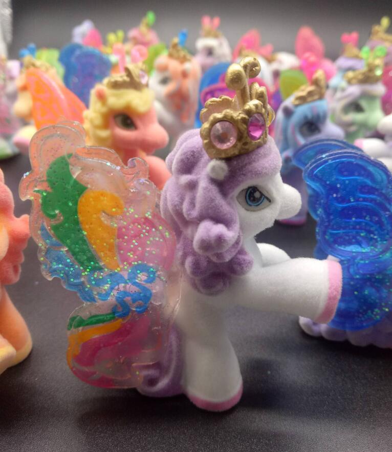 5pcs/set original My Anime Toy Collection Princess Celestia Luna Night Little Cute Unicorn Rarity Horse Pon Toys