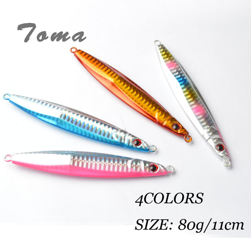 TOMA 80g Lead Fish Sinking Bait Metal Fishing Spoon Lure Metal Jigging Spoon fishing Lures Big Hard Artificial Bait Sea Lures toma spoon metal fishing lures lead fish 80g sinking bait metal jigging lure artificial bait bass lure fishing tackle