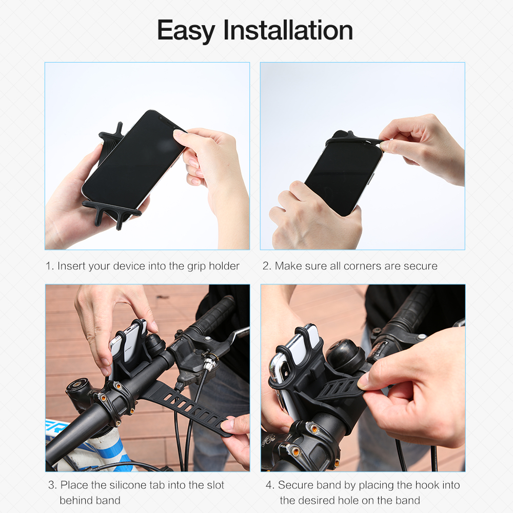 Image 5 - RAXFLY Bicycle Phone Holder For iPhone XS Max 7 Samsung Universal Motorcycle Phone Holder Bike Handlebar Stand Support Bracket-in Phone Holders & Stands from Cellphones & Telecommunications