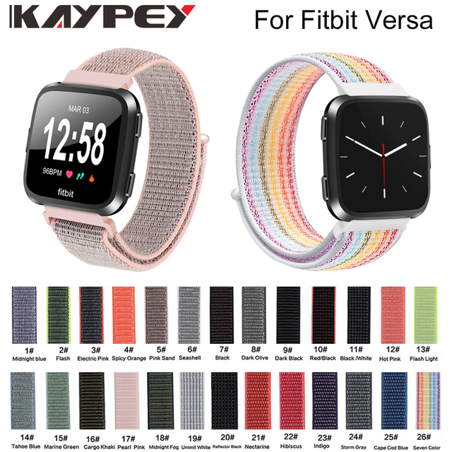 Nylon Bands for Fitbit Versa Replacement Breathless Soft Loop Strap Sport Wristbands for Versa bracelet watchband accessories