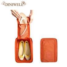 DINIWELL Portable Waterproof Shoes Bag Organizer Storage Pouch Pocket Packing Cubes Handle Nylon Zipper Bag for Travel