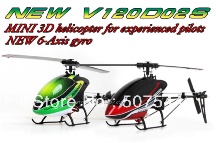 Walkera NEW V120D02S Flybarless 6-Axis Gyro Helicopter BNF without transmitter F