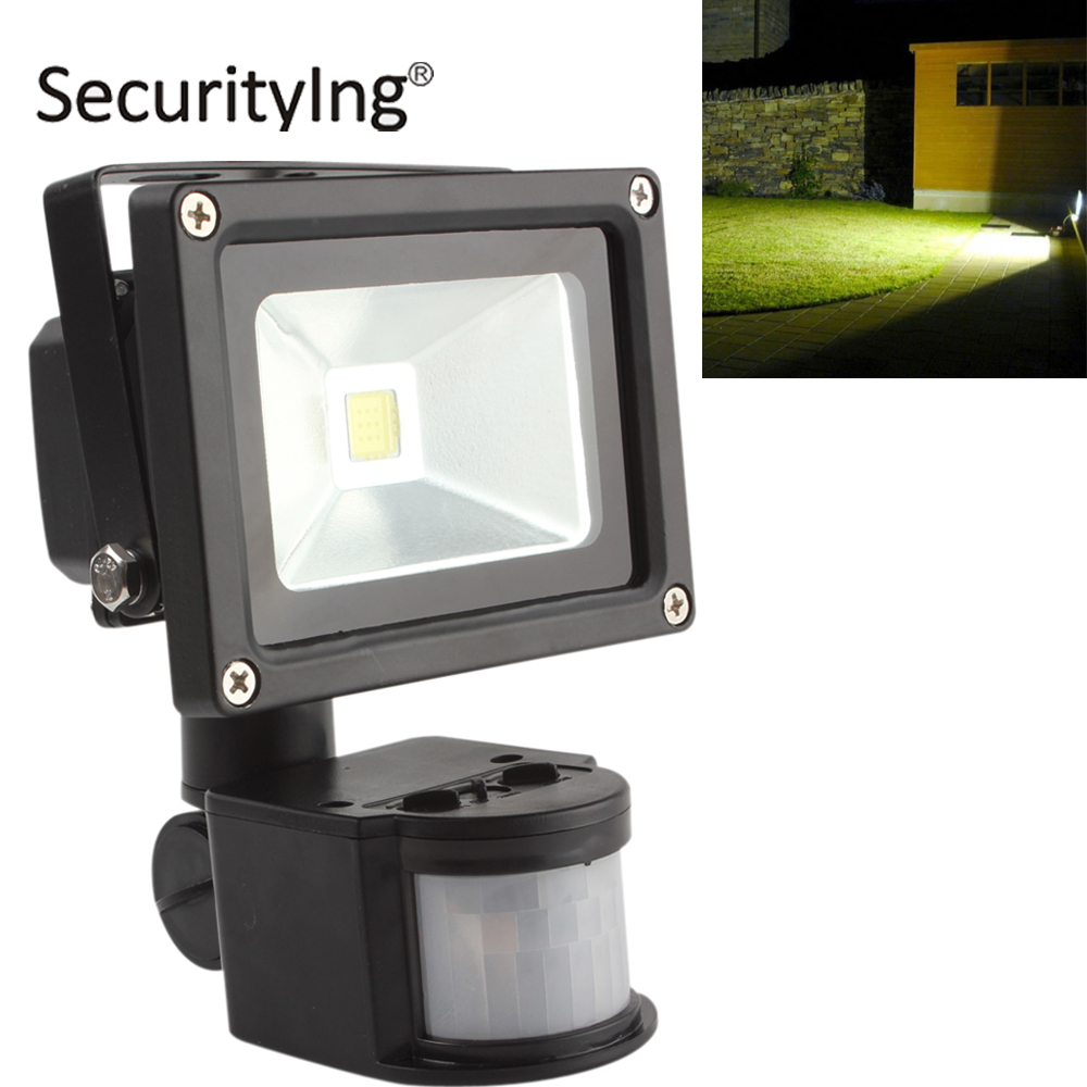 20W AC 85-265V LED Flood Light PIR Infrared Body Motion Sensor Floodlight Waterproof IP65 Outdoor LED Garden Lawn Landscape Lamp new safurance 15w led infrared pir sensor ceiling mount lamp light ac110 265v for room building automation home security