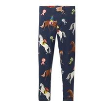 Детские леггинсы для девочек брюки с аппликацией животных 2018 бренд осень для девочек детские легинсы хлопковые детские леггинсы От 2 до 7 лет