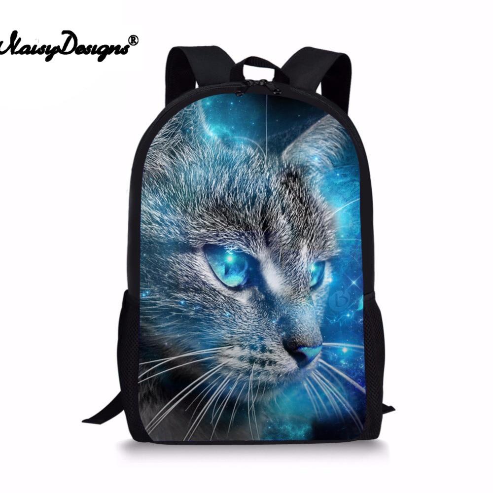 bece17b9f83c 3D Space Cat Cartoon Pattern Women Mini Backpack Men Daily Backpacks Teens  Causal String Bag Lovely