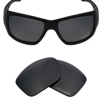 694a7cfa325 Mryok+ POLARIZED Resist SeaWater Replacement Lenses for Oakley Big Taco  Sunglasses Stealth Black