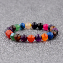 2018 DOUVEI Colorful Natural Stone Bracelets For Women Bangles Fashion Elastic Rope Beads Women Friendship Prayer Bracelets