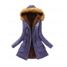 Winter Coat Women 2018 New Parka Casual Outwear Military Hooded Thickening Cotton Jacket Fur Clothes