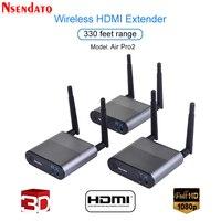 Measy воздуха Pro 2 100 м/330FT 2,4 ГГц/5,8 ГГц Беспроводной Wi Fi HDMI аудио видео удлинитель передатчик отправитель Комплект приемник с ик сигнала