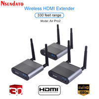 Measy Air Pro 2 100M/330FT 2.4GHz/5.8 GHz Wireless Wifi HDMI Audio Video Extender Transmitter Sender Receiver Kit With IR Signal