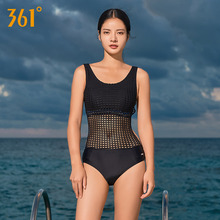 361 Women Sexy One Piece Swimsuits Female Sport Swimwear Triangle Transparent Mesh Bikini Set Backless Pool Bathing Suits