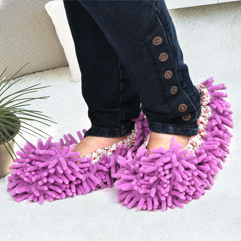 250pair/lot Dust Cleaner Grazing Slippers House Bathroom Floor Cleaning Mop Cleaner Slipper Lazy Shoes Cover Microfibe woolen monster house shoes slippers color assorted pair