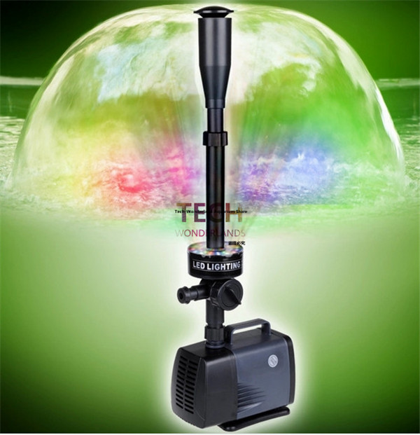 Garden Pond Decorative Water Fountain Pump With Led