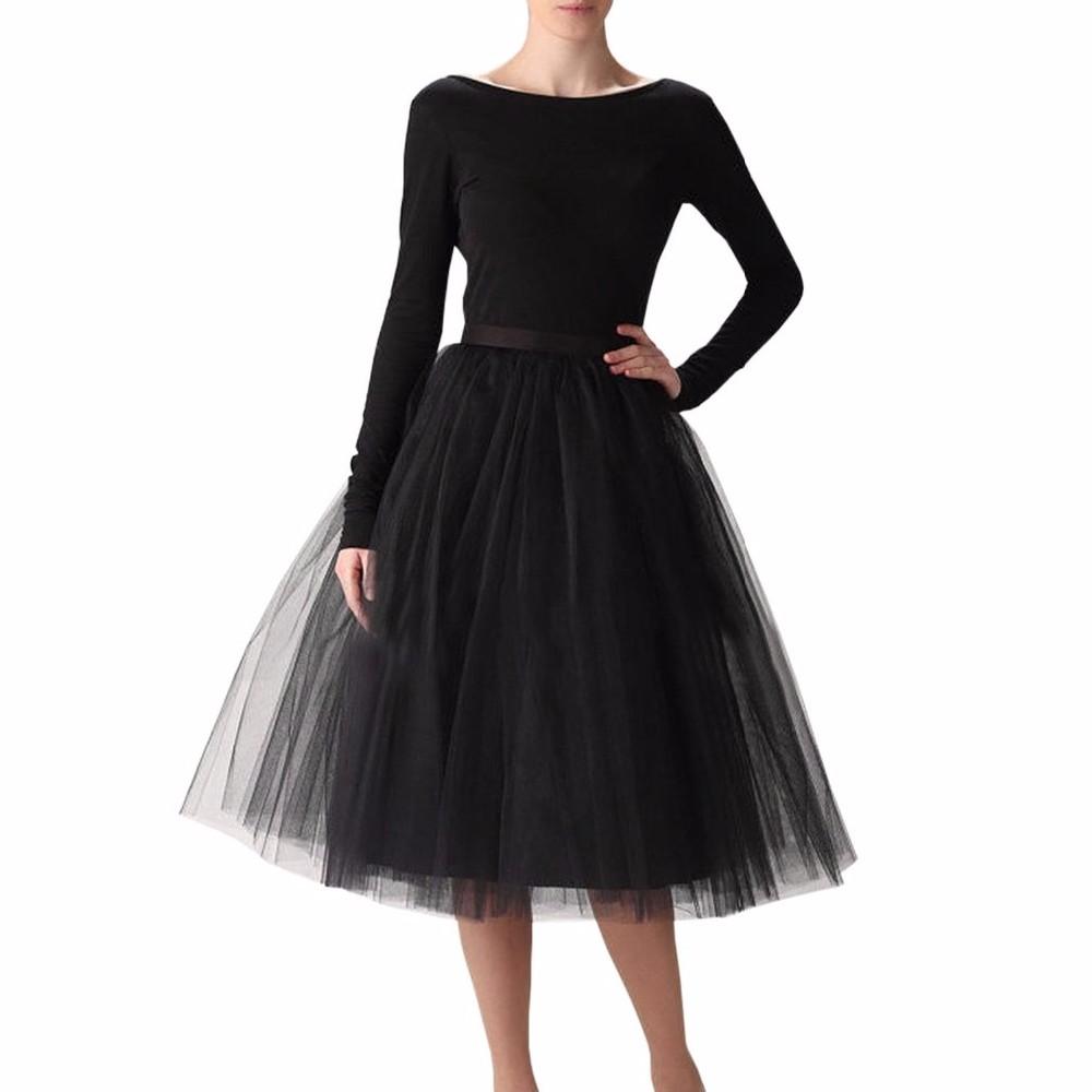 27b2281cb Puffy 7 Capas de Tul Falda Ocultos Cremallera Verano Estilo de Alta talle  Midi Faldas Para Mujer Faldas Tutu Falda Plisada Saias Plus tamaño en ...