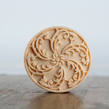 Nicole Natural Handmade Soap Silicone Mold Round with Classic Patterns Craft Resin Clay Chocolate Candy Mould