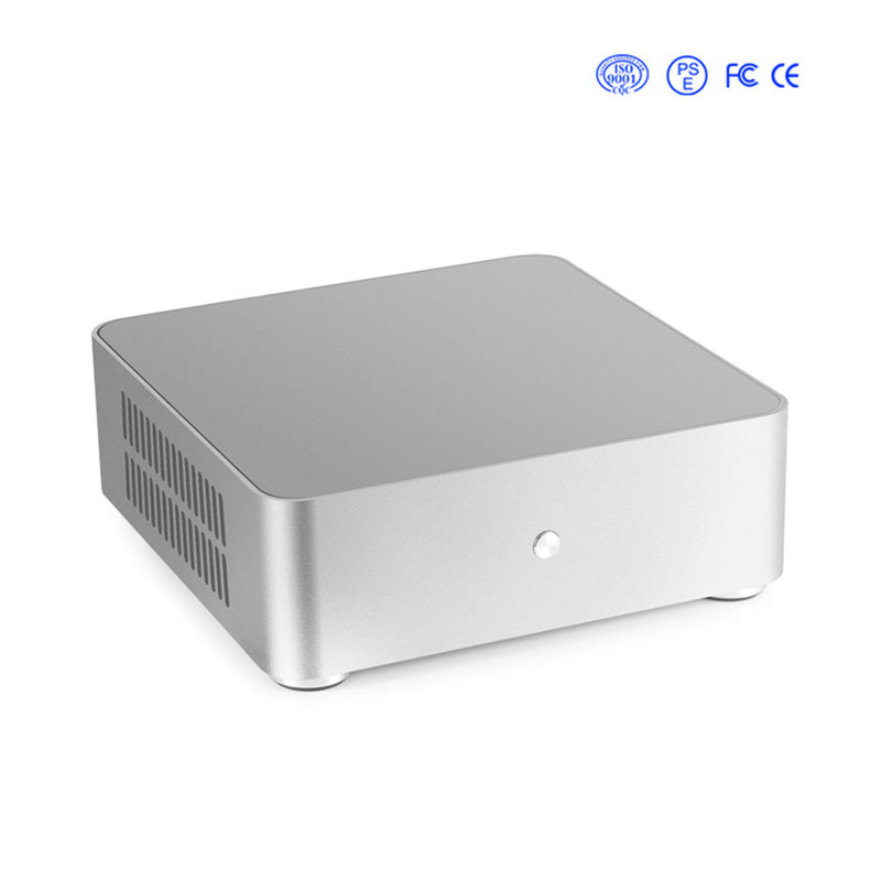 H65S coque d'ordinateur tout aluminium ordinateur de bureau châssis pour mini-itx carte mère dans les 17x17 cm pour bureau PC Case