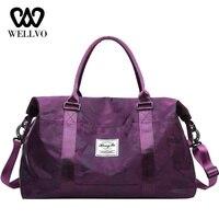 Woman Nylon Organizer Travel Bag Handbag Carry On Hand Luggage Bags Female Duffle Bags Men Travel Tote Big Weekend Bag XA722WB