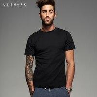 2016 Summer New Short Sleeve Basic Black T Shirt Homme Slim Fit Men Cotton Clothing U