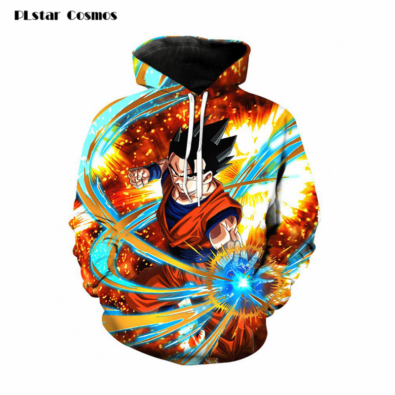 PLstar Cosmos Jackets Coats Dragon Ball Z Hoodie Anime Goku Hooded 3d Printed Men Sweatshirts Harajuku men DBZ print pullovers