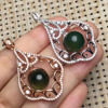 Special Price Round 11mm 925 Sterling Silver Natural Mexico Blue Amber Pendant Pendants Necklaces For Women