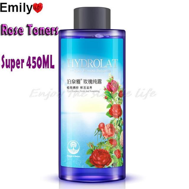 BIOAQUA Cuidado de La Piel Natural Rose Smoothing Hidratante Humedad de Tóner Reducir Los Poros de Control de Aceite Aclarar El Color de Piel de Las Mujeres 450 ml