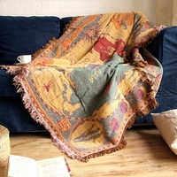 180cm x 130cm Bohemia Christmas Multifunctional Woven Thickened Cotton Sofa blanket Towel Blanket Tapestry Carpet, Bed Cover