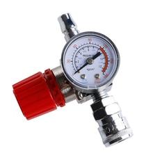 1/4 180PSI Air Compressor Regulator Pressure Switch Control Relief Valve Gauges 1pc air compressor valve 1 4 180psi air compressor regulator pressure switch control valve with gauges