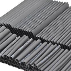 127 шт. Черный Термоусадочные трубки ассортимент обёрточная бумага электрической изоляции кабель трубки ассортимент полиолефинов